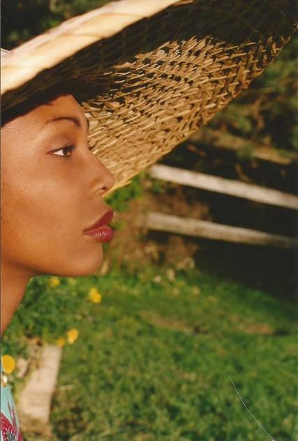 a Nicole in big straw hat from 23 years ago pic.